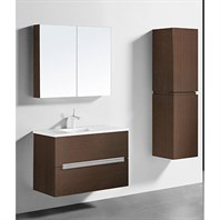 "Madeli Urban 36"" Bathroom Vanity for Quartzstone Top - Walnut B300-36-002-WA-QUARTZ"