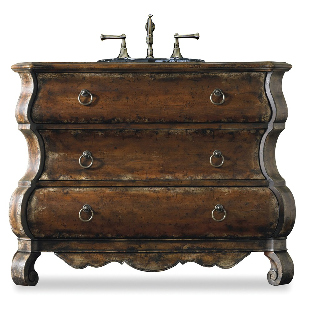 "Cole & Co. 47"" Designer Series Collection Edwards Bombe Chest - Distressed Cherrynohtin Sale $2992.50 SKU: 11.22.275547.16 :"