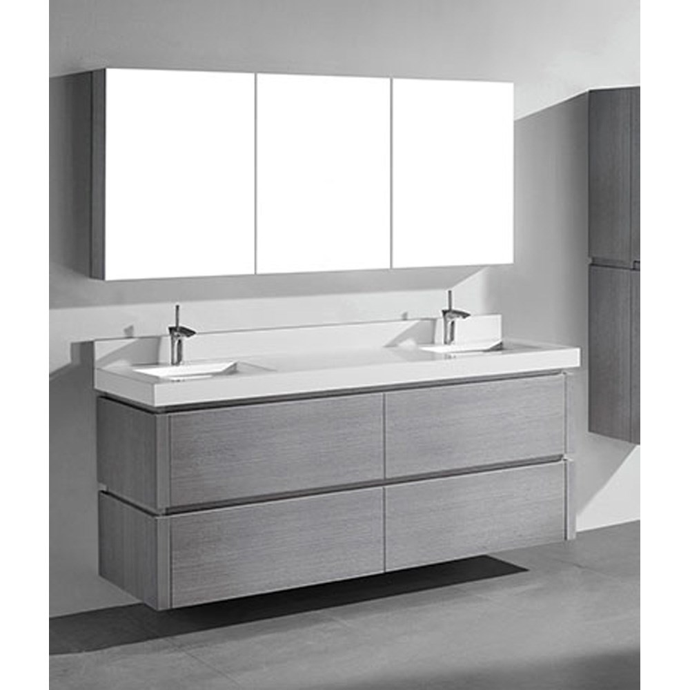 Double Wall Mounted Bathroom Vanity