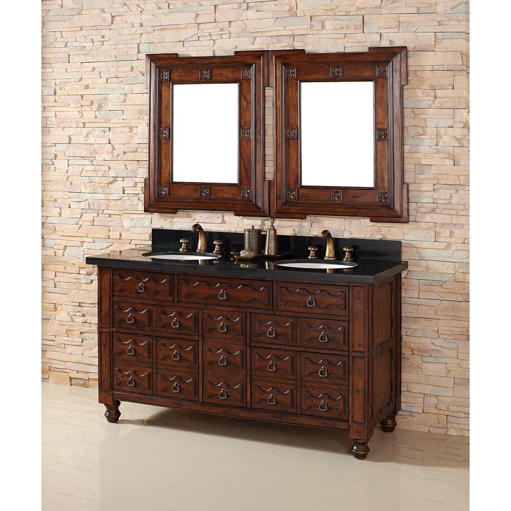 "James Martin 60"" Castilian Double Vanity - Aged Cognacnohtin Sale $1695.00 SKU: 160-V60D-ACG :"