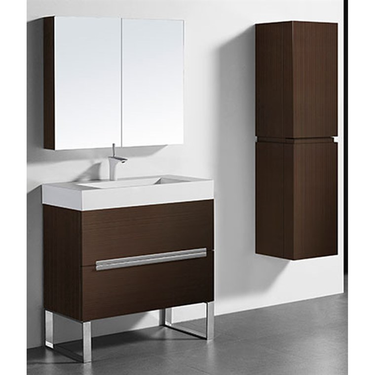 "Madeli Soho 36"" Bathroom Vanity for Integrated Basin - Walnut B400-36-001-WA"