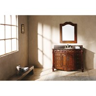 "James Martin 48"" St. James Single Granite Top Vanity - Cherry 206-001-5100"