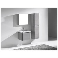 "Madeli Euro 24"" Bathroom Vanity for Integrated Basin - Ash Grey B930-24-002-AG"