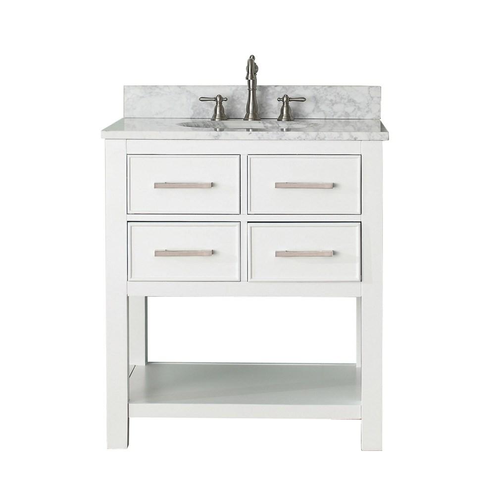 """Avanity Brooks 30"""" Single Bathroom Vanity with Countertop - Whitenohtin Sale $921.40 SKU: BROOKS-30-WT :"""