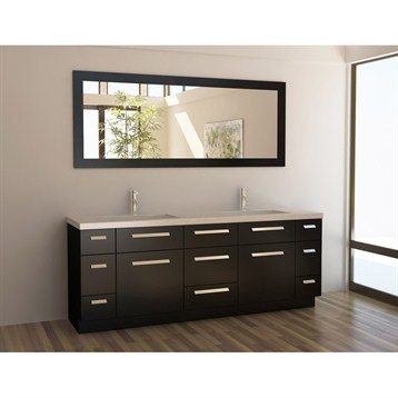 "Design Element Moscony 84"" Double Sink Vanity Set, Espresso J84-DS by Design Element"