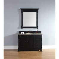 "James Martin 48"" Brookfield Single Vanity with drawers - Antique Black 147-114-5236"