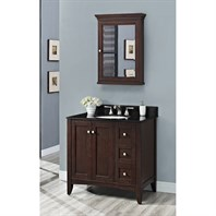 "Fairmont Designs Shaker Americana 36"" Vanity Drawer-right - Habana Cherry 1513-V36R"