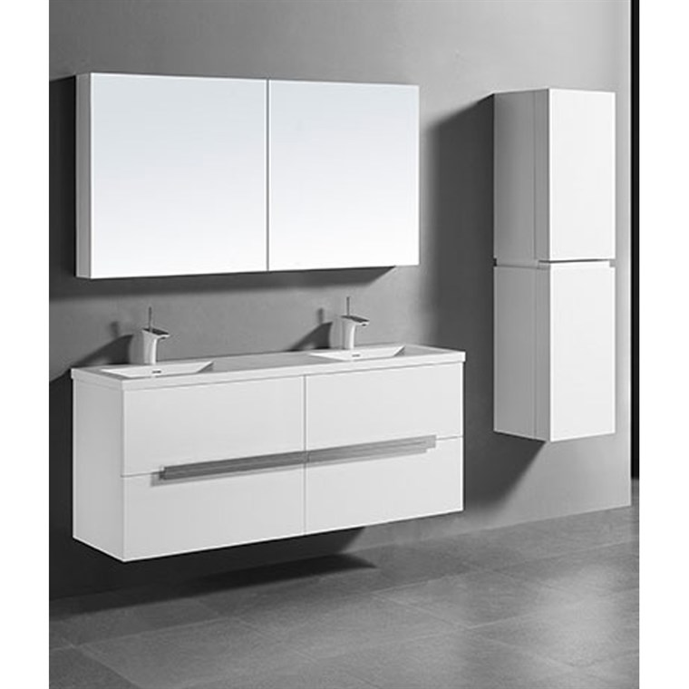 "Madeli Urban 60"" Double Bathroom Vanity for Integrated Basin - Glossy White B300-60D-002-GW"