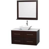 "Centra 42"" Single Bathroom Vanity Set for Vessel Sink by Wyndham Collection - Espresso WC-WHE009-42-SGL-VAN-ESP"