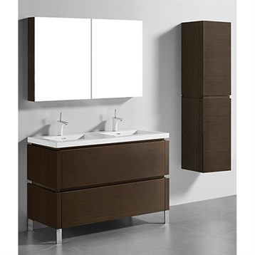 "Madeli Metro 48"" Double Bathroom Vanity for Integrated Basin, Walnut B600-48D-001-WA by Madeli"