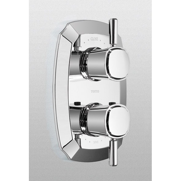 TOTO Guinevere® Lever Handle Thermostatic Mixing Valve Trim w/ Two-Way Volume Control - Polished Chromenohtin Sale $430.40 SKU: TS970D1.CP :