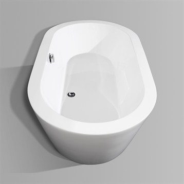 Mermaid 60 soaking bathtub by wyndham collection free for Most comfortable tub reviews