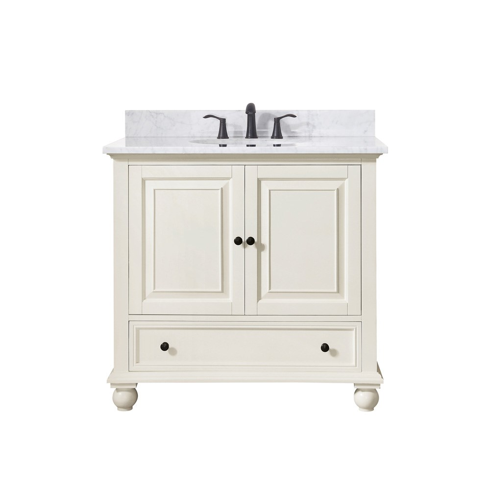 "Avanity Thompson 36"" Single Bathroom Vanity - French Whitenohtin Sale $816.00 SKU: THOMPSON-36-FW :"
