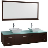 "Bianca 72"" Wall-Mounted Double Bathroom Vanity - Espresso WHE007-72-ESP-"
