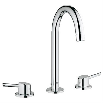 """Grohe Concetto 3-Hole Lavatory Wideset, 1/2"""" L-Size, Starlight Chrome GRO 20217001 by GROHE"""