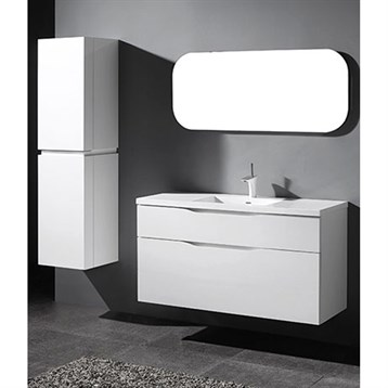 "Madeli Bolano 48"" Single Bathroom Vanity for Integrated Basin, Glossy White B100-48C-022-GW by Madeli"