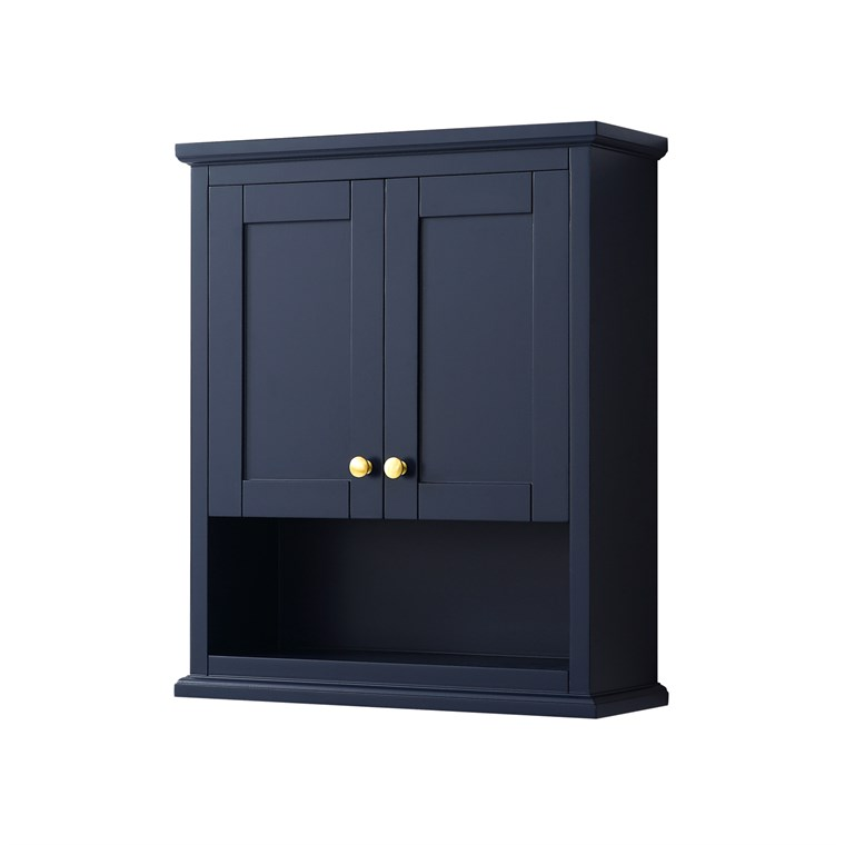 Avery Over-Toilet Wall Cabinet by Wyndham Collection - Dark Blue WC-2323-WC-BLU