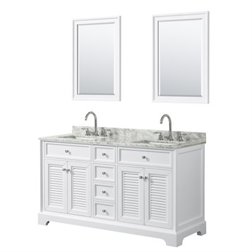 Tamara 60 Double Bathroom Vanity by Wyndham Collection - White