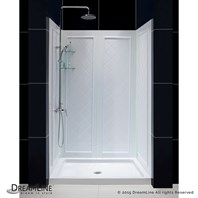 "Bath Authority DreamLine SlimLine Single Threshold Shower Base and QWALL-5 Shower Backwalls Kit (36"" by 48"") DL-6193C-01"