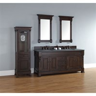 "James Martin 72"" Brookfield Double Cabinet Vanity - Burnished Mahogany 147-114-5761"