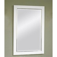 "22"" Belleair Beach Mirror - High-gloss White 124-M22"