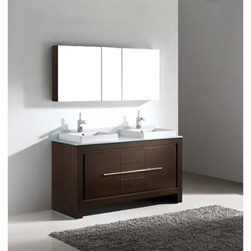 "Madeli Vicenza 60"" Double Bathroom Vanity, Walnut B999-60CD-001-WA by Madeli"