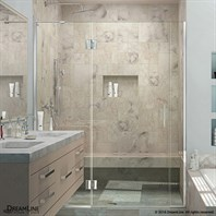 Bath Authority DreamLine UniDoor-X 72 -72-1/2 in. W x 72 in. H Hinged Shower Door D3262272