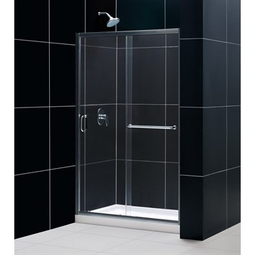"""Bath Authority DreamLine Infinity-Z Frameless Sliding Shower Door and SlimLine Single Threshold Shower Base, 36"""" by... by Bath Authority DreamLine"""