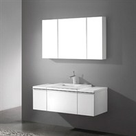 "Madeli Venasca 48"" Bathroom Vanity with Quartzstone Top - Glossy White Venasca-48-GW-Quartz"