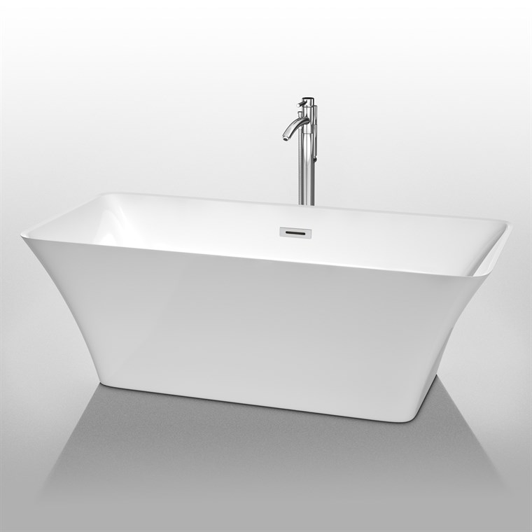 "Tiffany 67"" Large Soaking Bathtub by Wyndham Collection WC-BTK1504-67"