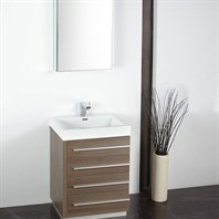 "Fresca Livello 24"" Gray Oak Modern Bathroom Vanity with Medicine Cabinet FVN8024GO"