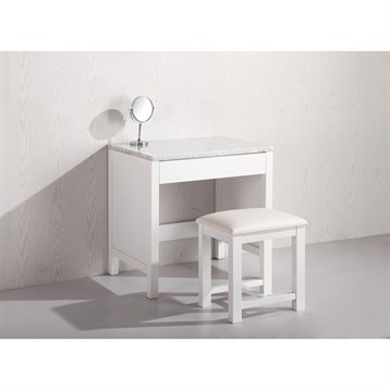 Design Element Make-up Table with Seat, White MUT-W by Design Element