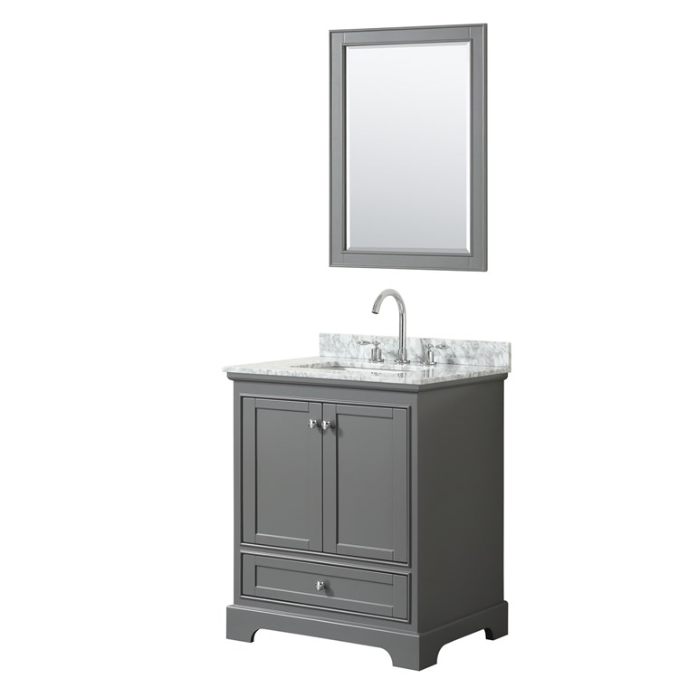 "Deborah 30"" Single Bathroom Vanity by Wyndham Collection - Dark Gray WC-2020-30-SGL-VAN-DKG"