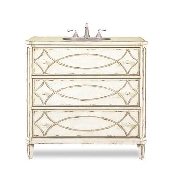 "Cole & Co. 37"" Designer Series Collection Ella Sink Chest, Antique White 11.23.275537.26 by Cole & Co."