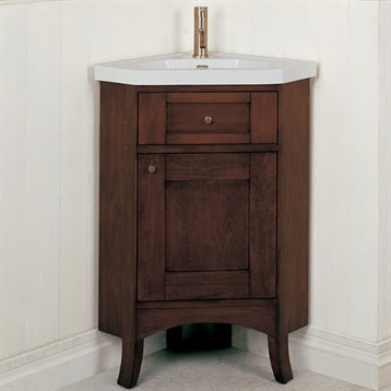 Fairmont designs 26 lifestyle collection shaker corner vanity combo dark cherry free - Vanity combos bathroom ideas ...