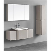 "Madeli Euro 50"" Bathroom Vanity for Integrated Basin - Silk B930-24-002-SK, 2X-UC930-12-007-SK"