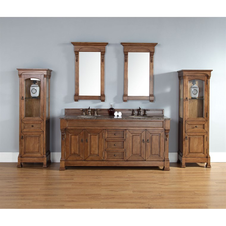 "James Martin 72"" Brookfield Double Vanity - Country Oak 147-114-5771"