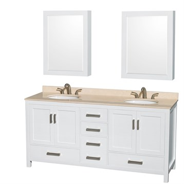 Lovely Double Vanity Base Cabinet