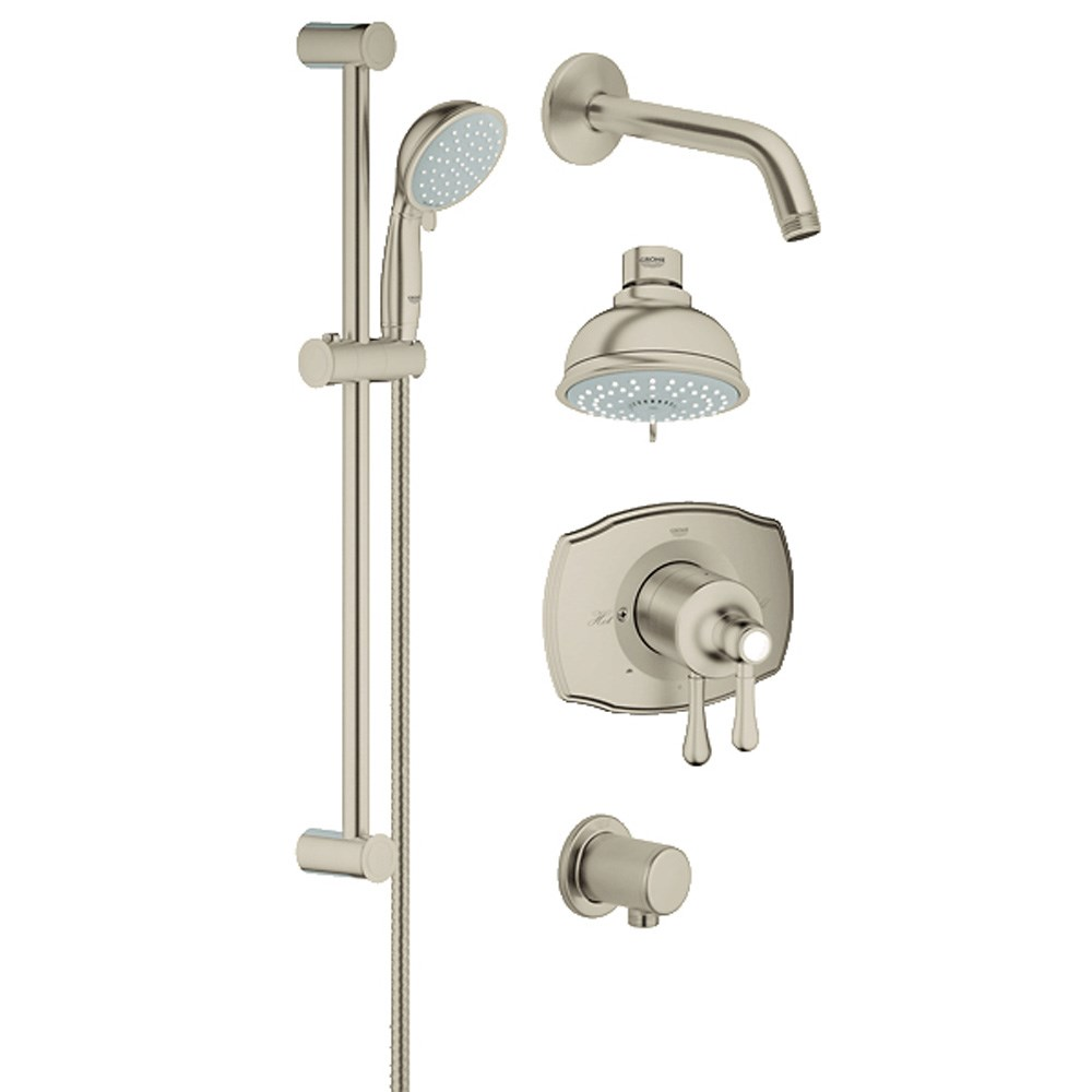 Grohe Grohflex Bath and Shower Set - Brushed Nickel | Free Shipping ...