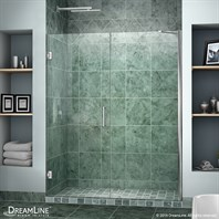 "Bath Authority DreamLine Unidoor Frameless Hinged Shower Door (53""-61"") SHDR-20537210C"