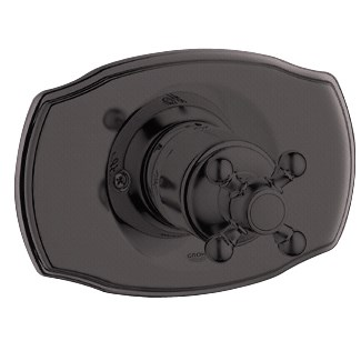 Grohe Geneva Pressure Balance Valve Trim with Cross Handle - Oil Rubbed Bronze
