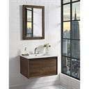 "Fairmont Designs M4 30"" Wall Mount Vanity for Integrated Sinktop - Natural Walnut 1505-WV30-"