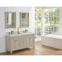 "Fairmont Designs Crosswinds 60"" Double Bowl Vanity for Quartz Top - Slate Gray 1524-V6021D_"