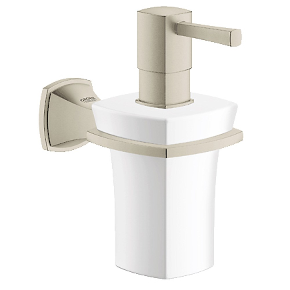 Grohe Grandera soap dispenser including Holder - Brushed Nickelnohtin
