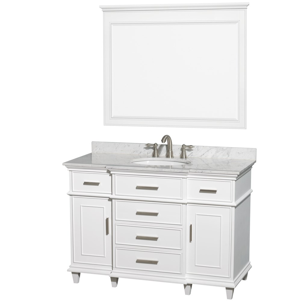 Berkeley 48 Single Bathroom Vanity By Wyndham Collection White Wc 1717