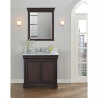"Fairmont Designs Providence 36"" Vanity for Rectangle Sink - Aged Chocolate 1529-V36_"