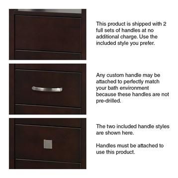 Tavello Wood Bathroom Cabinet Espresso By Wyndham