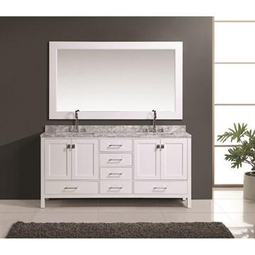 """Design Element London 72"""" Double Vanity Set, White DEC082B-W by Design Element"""
