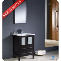 "Fresca Torino 24"" Espresso Modern Bathroom Vanity with Undermount Sink FVN6224ES-UNS"