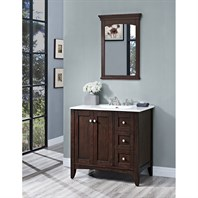 "Fairmont Designs Shaker Americana 36"" Vanity Drawer-right for Integrated Top - Habana Cherry 1513-V36R-"
